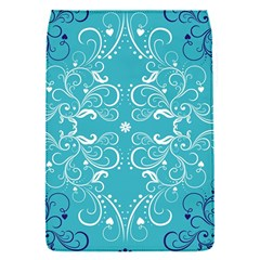 Flower Leaf Floral Love Heart Sunflower Rose Blue White Flap Covers (S)