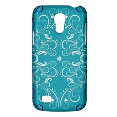 Flower Leaf Floral Love Heart Sunflower Rose Blue White Galaxy S4 Mini