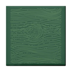 Illustration Green Grains Line Tile Coasters