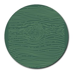 Illustration Green Grains Line Round Mousepads