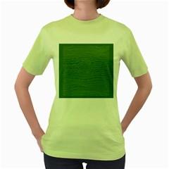 Illustration Green Grains Line Women s Green T Shirt