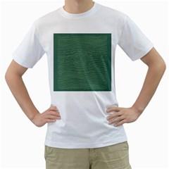 Illustration Green Grains Line Men s T-Shirt (White) (Two Sided)
