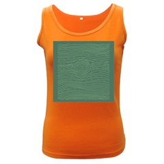 Illustration Green Grains Line Women s Dark Tank Top