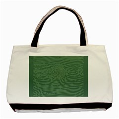 Illustration Green Grains Line Basic Tote Bag (Two Sides)