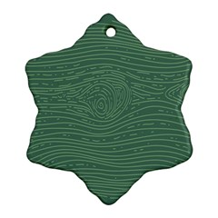 Illustration Green Grains Line Snowflake Ornament (Two Sides)