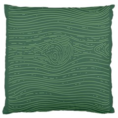 Illustration Green Grains Line Large Cushion Case (Two Sides)
