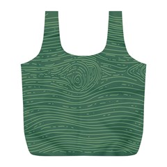 Illustration Green Grains Line Full Print Recycle Bags (L)