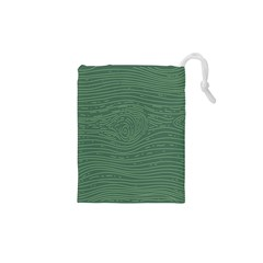Illustration Green Grains Line Drawstring Pouches (XS)