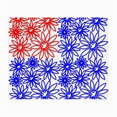 Flower Floral Smile Face Red Blue Sunflower Small Glasses Cloth (2-Side)
