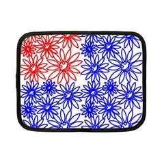 Flower Floral Smile Face Red Blue Sunflower Netbook Case (Small)