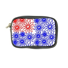 Flower Floral Smile Face Red Blue Sunflower Coin Purse