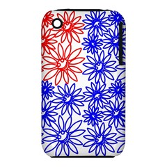 Flower Floral Smile Face Red Blue Sunflower iPhone 3S/3GS