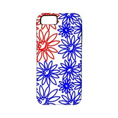 Flower Floral Smile Face Red Blue Sunflower Apple Iphone 5 Classic Hardshell Case (pc+silicone)