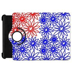 Flower Floral Smile Face Red Blue Sunflower Kindle Fire HD 7