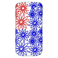Flower Floral Smile Face Red Blue Sunflower Samsung Galaxy S3 S III Classic Hardshell Back Case