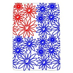 Flower Floral Smile Face Red Blue Sunflower Flap Covers (L)