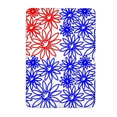 Flower Floral Smile Face Red Blue Sunflower Samsung Galaxy Tab 2 (10.1 ) P5100 Hardshell Case