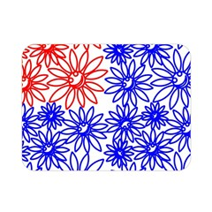 Flower Floral Smile Face Red Blue Sunflower Double Sided Flano Blanket (Mini)