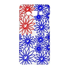 Flower Floral Smile Face Red Blue Sunflower Samsung Galaxy A5 Hardshell Case