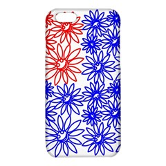 Flower Floral Smile Face Red Blue Sunflower iPhone 6/6S TPU Case