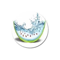 Fruit Water Slice Watermelon Magnet 3  (round)