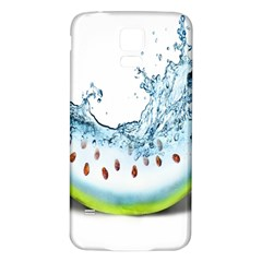 Fruit Water Slice Watermelon Samsung Galaxy S5 Back Case (White)