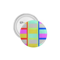 Maximum Color Rainbow Red Blue Yellow Grey Pink Plaid Flag 1.75  Buttons
