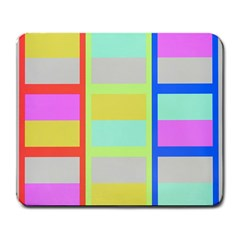 Maximum Color Rainbow Red Blue Yellow Grey Pink Plaid Flag Large Mousepads