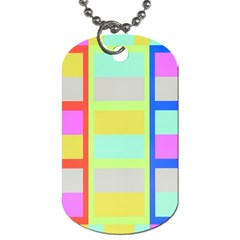 Maximum Color Rainbow Red Blue Yellow Grey Pink Plaid Flag Dog Tag (two Sides)