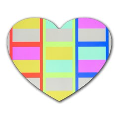 Maximum Color Rainbow Red Blue Yellow Grey Pink Plaid Flag Heart Mousepads