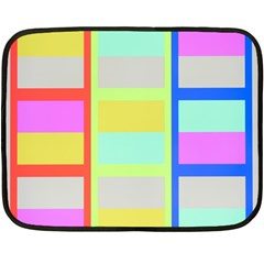 Maximum Color Rainbow Red Blue Yellow Grey Pink Plaid Flag Double Sided Fleece Blanket (mini)