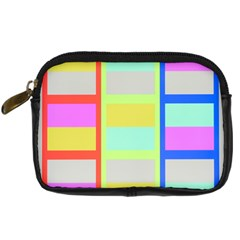 Maximum Color Rainbow Red Blue Yellow Grey Pink Plaid Flag Digital Camera Cases