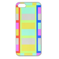 Maximum Color Rainbow Red Blue Yellow Grey Pink Plaid Flag Apple Seamless iPhone 5 Case (Clear)