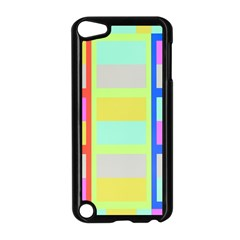 Maximum Color Rainbow Red Blue Yellow Grey Pink Plaid Flag Apple iPod Touch 5 Case (Black)