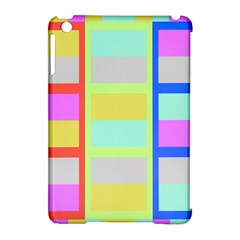 Maximum Color Rainbow Red Blue Yellow Grey Pink Plaid Flag Apple iPad Mini Hardshell Case (Compatible with Smart Cover)