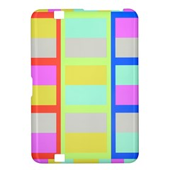 Maximum Color Rainbow Red Blue Yellow Grey Pink Plaid Flag Kindle Fire HD 8.9