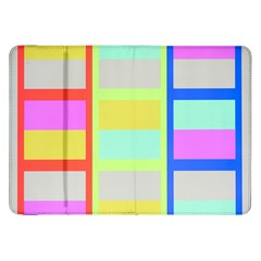 Maximum Color Rainbow Red Blue Yellow Grey Pink Plaid Flag Samsung Galaxy Tab 8.9  P7300 Flip Case