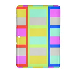 Maximum Color Rainbow Red Blue Yellow Grey Pink Plaid Flag Samsung Galaxy Tab 2 (10.1 ) P5100 Hardshell Case