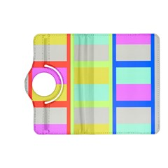 Maximum Color Rainbow Red Blue Yellow Grey Pink Plaid Flag Kindle Fire HD (2013) Flip 360 Case