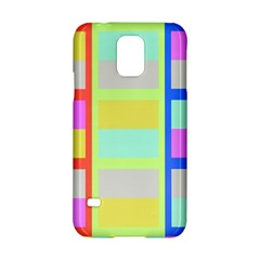 Maximum Color Rainbow Red Blue Yellow Grey Pink Plaid Flag Samsung Galaxy S5 Hardshell Case