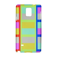 Maximum Color Rainbow Red Blue Yellow Grey Pink Plaid Flag Samsung Galaxy Note 4 Hardshell Case