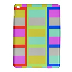 Maximum Color Rainbow Red Blue Yellow Grey Pink Plaid Flag iPad Air 2 Hardshell Cases