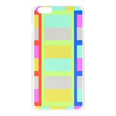 Maximum Color Rainbow Red Blue Yellow Grey Pink Plaid Flag Apple Seamless iPhone 6 Plus/6S Plus Case (Transparent)