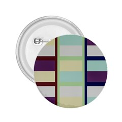 Maximum Color Rainbow Brown Blue Purple Grey Plaid Flag 2.25  Buttons