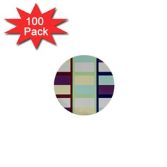 Maximum Color Rainbow Brown Blue Purple Grey Plaid Flag 1  Mini Buttons (100 pack)