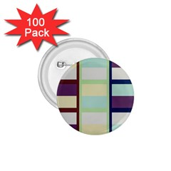 Maximum Color Rainbow Brown Blue Purple Grey Plaid Flag 1.75  Buttons (100 pack)