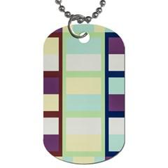 Maximum Color Rainbow Brown Blue Purple Grey Plaid Flag Dog Tag (two Sides)