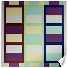 Maximum Color Rainbow Brown Blue Purple Grey Plaid Flag Canvas 16  x 16