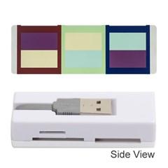 Maximum Color Rainbow Brown Blue Purple Grey Plaid Flag Memory Card Reader (Stick)