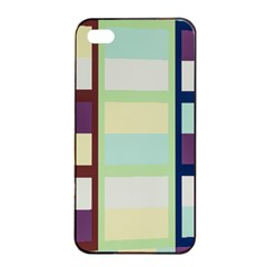 Maximum Color Rainbow Brown Blue Purple Grey Plaid Flag Apple iPhone 4/4s Seamless Case (Black)